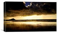 Cloudy Mount at Dawn, Canvas Print
