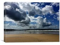 Cloudy skies over St Ives Bay
