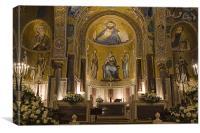 Cappella Palatina, Canvas Print