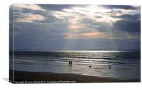 The Beach Walkers, Canvas Print