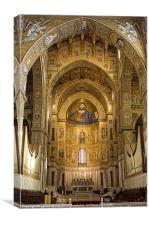 Inside Monreale Cathederal, Canvas Print
