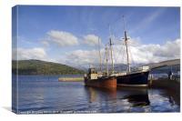 Boats At Loch Fyne, Canvas Print