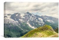 White topped mountains, Canvas Print