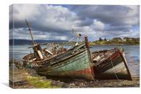 Boats at Salen, Canvas Print