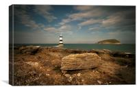 Penmon Point Lighthouse and Puffin Island, Canvas Print