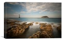 Trwyn Du Lighthouse - Penmon Point, Canvas Print