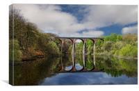 The viaduct over Wayoh Reservoir, Canvas Print