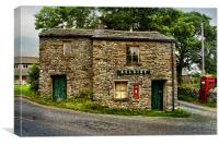 Selside Post Offfice Yorkshire dales, Canvas Print