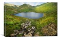 Kentmere reservoir Cumbria, Canvas Print