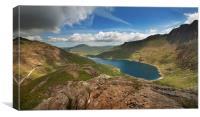 Llyn Llydaw panorama Snowdonia, Canvas Print