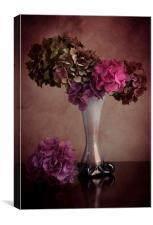 Hydrangea in vase, Canvas Print