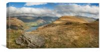 Illgill head and wastwater cumbria, Canvas Print