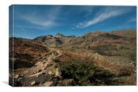 Langdale valley Cumbria, Canvas Print