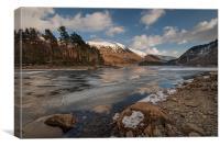 Thirlmere Frozen Lake District, Canvas Print