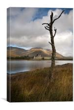 Kilchurn castle loch awe Scotland, Canvas Print