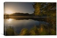 Sunrise on Rydal water, Canvas Print