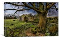 Old barn Lancashire, Canvas Print