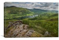 Rydal water from Loughrigg fell, Canvas Print