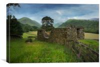 Cumbrian cottage lake district , Canvas Print