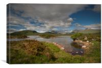 The Black Mountains and lochan na stainge , Canvas Print