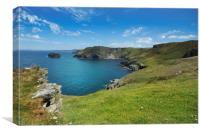 Barras Nose to Willapark Cornwall, Canvas Print