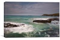 Booby's bay Trevos head Cornwall , Canvas Print