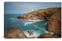 Trevose head and lighthouse Cornwall, Canvas Print