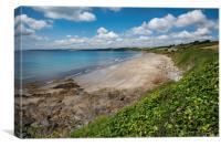 Carne and Pendower beaches -  Roseland -   Cornwal, Canvas Print