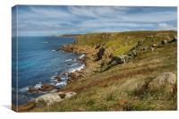 pendn-men-du , lands end Cornwall , Canvas Print