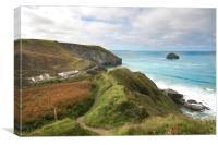 Trebarwith strand Cornwall, Canvas Print