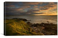 Sunset at St Ives bay Cornwall, Canvas Print