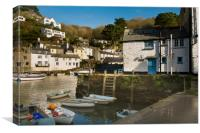 Polperro harbour Cornwall, Canvas Print