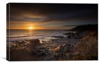 Sunset at Church cove Cornwall, Canvas Print