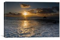 Sandymouth bay Cornwall, Canvas Print