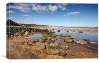Cayton Bay, Canvas Print