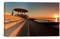 Cleveleys Promenade Evening, Canvas Print
