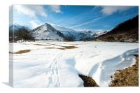 Hartsop Dodd Winter, Canvas Print