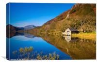 The Boathouse at Llyn Dinas, Canvas Print