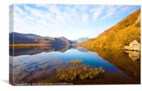 Llyn Dinas in Autumn, Canvas Print