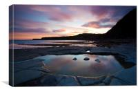 Kimmeridge Colours, Canvas Print