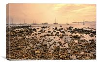 Rocky seashore, Canvas Print