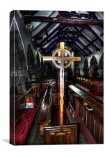 St Michaels on Wyre Cross, Canvas Print