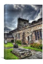 St Michaels on Wyre Church, Canvas Print