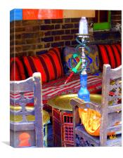 Empty Khave Seats - Turkish Bar Camden, Canvas Print
