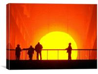 A Golden Sunset - Tate Modern installation, Canvas Print