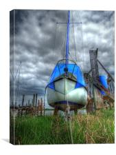 Grounded Yacht - Skippool Creek,, Canvas Print