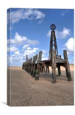Skeletal Remains - St Annes Pier End, Lytham, Canvas Print