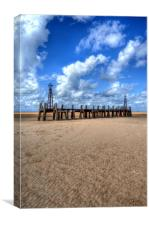 Lost by Fire - St Anne's Pier End, Lytham, Canvas Print