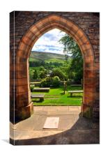St Leonard Church Entrance - Downham, Canvas Print