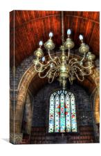 St Leonard Church Interior - Downham, Canvas Print